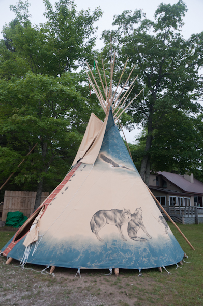Dick's new tipi, which he purchased from Nomadic Tipi Makers in Bend, Oregon.