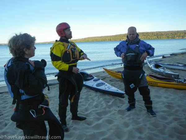 Sam Crowley, center, was our instructor trainer.