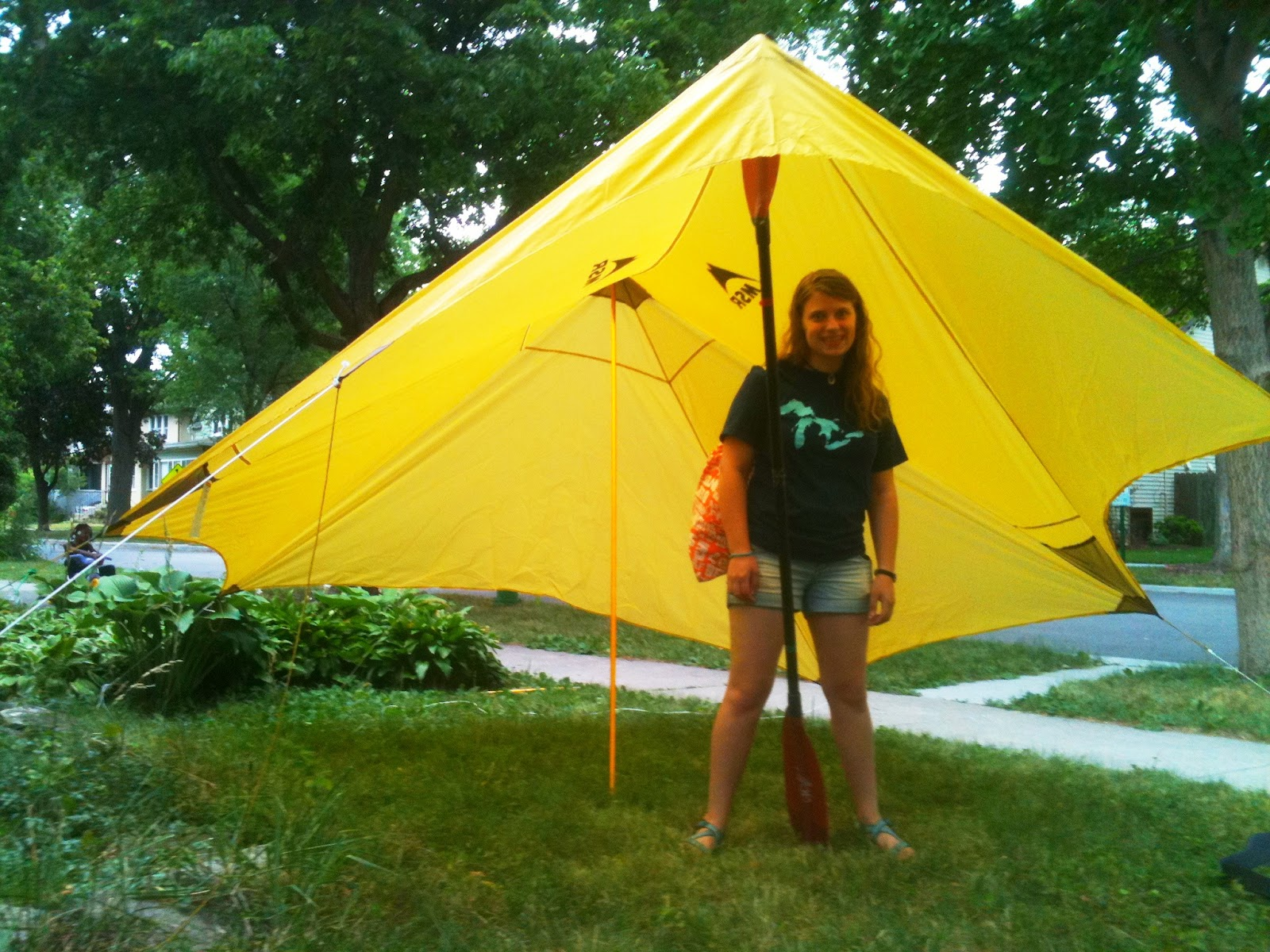 Hannah under the Twing. & Preparing for a kayak trip: Shelter part one | Have Kayaks Will ...
